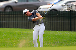 June 24, 2018 - Cromwell, CT, U.S. - CROMWELL, CT - JUNE 24: Paul Casey of England hits his approach shot on the 9th fairway during the Final Round of the Travelers Championship on June 24, 2018 at TPC River Highlands in Cromwell, Connecticut. (Photo by Fred Kfoury III/Icon Sportswire) (Credit Image: © Fred Kfoury Iii/Icon SMI via ZUMA Press)