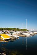 View of Fish Creek Harbor, Fish Creek, Wisconsin.