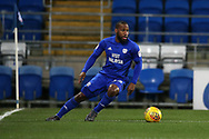 Junior Hoilett of Cardiff city in action.  EFL Skybet championship match, Cardiff city v Bolton Wanderers at the Cardiff city Stadium in Cardiff, South Wales on Tuesday 13th February 2018.<br /> pic by Andrew Orchard, Andrew Orchard sports photography.