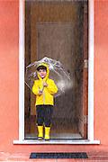 Nico in the rain