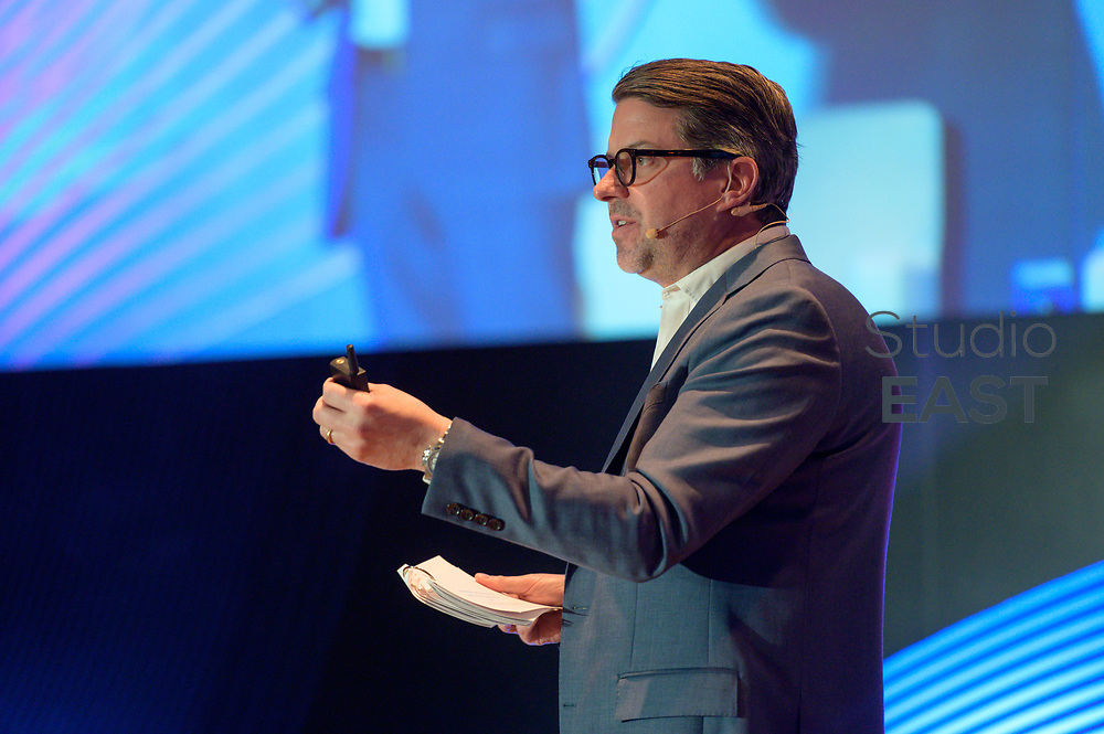 Presentation 'QuickFire: The pursuit of free data flow' by Josh Stinchcomb, Global Chief Revenue Officer, The Wall Street Journal | Barron's Group, during Campaign360 conference in Sentosa, Singapore, on 5 March 2019. Photo by Weixiang Lim/Studio EAST