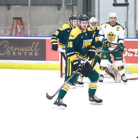 5th year forward, Zach McPhee (16) of the Regina Cougars during the Men's Hockey Home Game on Sat Jan 26 at Co-operators Center. Credit: Arthur Ward/Arthur Images