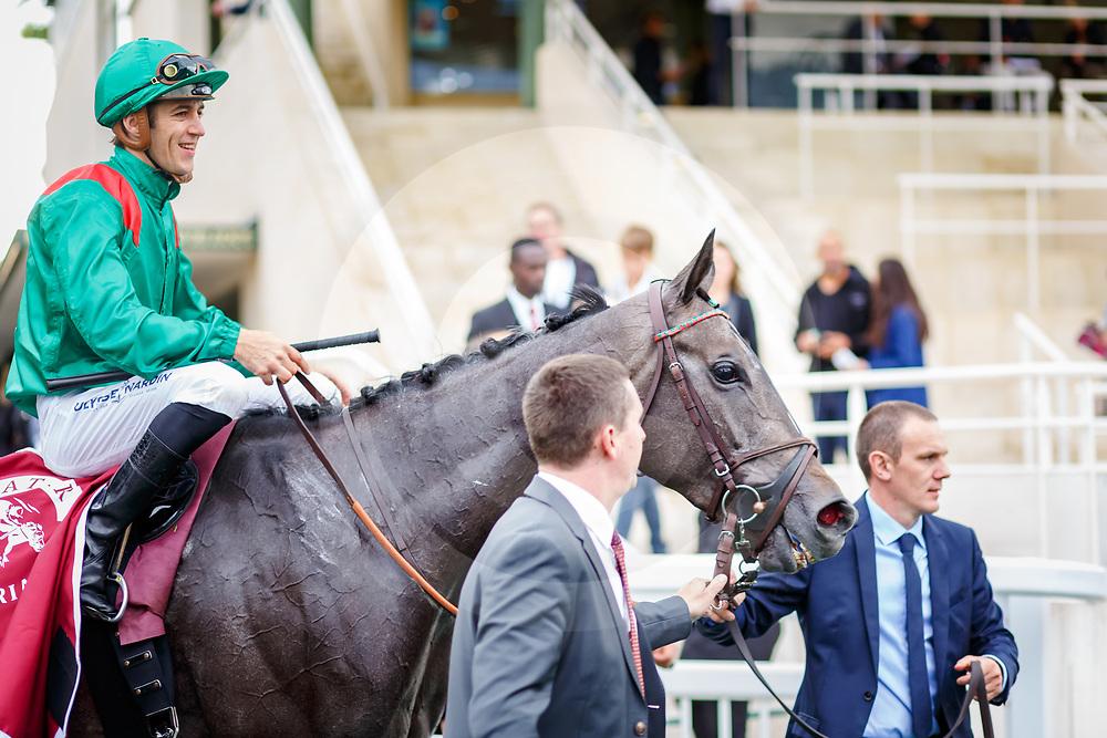 Vazirabad (C. Soumillon) wins Qatar Prix Gladiateur Gr.3in Chantilly, France 10/09/02017, photo: Zuzanna Lupa