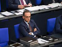 DEU, Deutschland, Germany, Berlin, 29.11.2018: Bundesaussenminister Heiko Maas (SPD) während der Debatte zum UN-Migrationspakt bei der Plenarsitzung im Deutschen Bundestag.