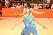 DESCRIZIONE : Pistoia campionato serie A 2013/14 Giorgio Tesi Group Pistoia Vanoli Cremona <br /> GIOCATORE : Guido Meini<br /> CATEGORIA : palleggio<br /> SQUADRA : Giorgio Tesi Group Pistoia<br /> EVENTO : Campionato serie A 2013/14<br /> GARA : Giorgio Tesi Group Pistoia Vanoli Cremona <br /> DATA : 10/11/2013<br /> SPORT : Pallacanestro <br /> AUTORE : Agenzia Ciamillo-Castoria/GiulioCiamillo<br /> Galleria : Lega Basket A 2013-2014  <br /> Fotonotizia : Pistoia campionato serie A 2013/14 Giorgio Tesi Group Pistoia Vanoli Cremona<br /> Predefinita :