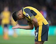 Arsenal's Alexis Sanchez looks on dejected during the Premier League match at Selhurst Park Stadium, London. Picture date: April 10th, 2017. Pic credit should read: David Klein/Sportimage