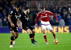 Gaston Ramirez of Middlesbrough takes on Robert Snodgrass of Hull City - Mandatory by-line: Robbie Stephenson/JMP - 05/12/2016 - FOOTBALL - Riverside Stadium - Middlesbrough, England - Middlesbrough v Hull City - Premier League