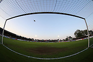 a view of the Goal mouth at  The Cherry Red Records Stadium during half time. Skybet football league two play off semi final, 1st leg match, AFC Wimbledon v Accrington Stanley at the Cherry Red Records Stadium in Kingston upon Thames, Surrey on Saturday 14th May 2016.<br /> pic by John Patrick Fletcher, Andrew Orchard sports photography.