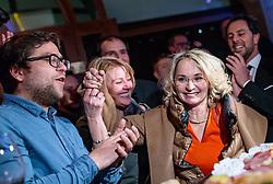25.02.2018, Innsbruck, AUT, Landtagswahl in Tirol 2018, im Bild Spitzenkandidatin Elisabeth Blanik (SPOe) während der Wahlfeier der SPOe // celebrate after the State election in Tyrol 2018. Innsbruck, Austria on 2018/02/25. EXPA Pictures © 2018, PhotoCredit: EXPA/ JFK