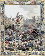 Thirty Years War: Battle of Rocroi (Rocroy), 19 May 1643, Spanish defeated by French under Duc d'Enghien, Prince de Conde (1621-1686) known as the Great (Grand) Conde.