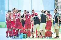 RIO DE JANEIRO  (Brazilië) -  team Belgium during the poulematch hockey men Belgium v Great Britain (4-1),   Olympic Games 2016 . Copyright Koen Suyk