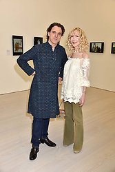 Sacha Newley and Basia Briggs at a preview of the 'From Selfie To Self-Expression' exhibition at The Saatchi Gallery, Duke Of York's HQ, King's Road, London, England. 30 March 2017.