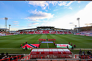 General view of the Racecourse stadium ahead of the Friendly European Championship warm up match between Wales and Trinidad and Tobago at the Racecourse Ground, Wrexham, United Kingdom on 20 March 2019.