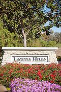 Laguna Hills City Monument Vertical Stock Photo