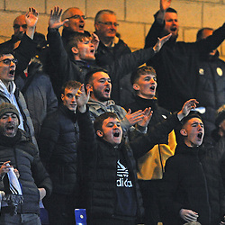 TELFORD COPYRIGHT MIKE SHERIDAN Telford fans during the Vanarama Conference North fixture between AFC Telford United and Chester at the 1885 Arena Deva Stadium on Saturday, December 21, 2019.<br /> <br /> Picture credit: Mike Sheridan/Ultrapress<br /> <br /> MS201920-035