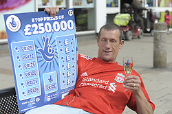 National Lottery £250,000 Scratchcard Winner outside the Co-op Store where he purchased his prize winning ticket  in Goldthorpe   6th September 2010 <br />Images © Paul David Drabble