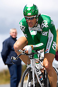 France - Tuesday, Jul 08 2008: Jimmy Engoulvent (Fra) Crédit Agricole finished in 146th place on stage 4, 4' 11'' down on the winner Stefan Schumacher. The stage was a 29.5 km time trial starting and ending in Cholet.    (Photo by Peter Horrell / http://www.peterhorrell.com)