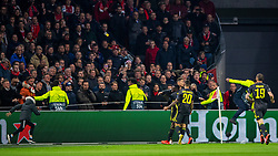 10-04-2019 NED: Champions League AFC Ajax - Juventus,  Amsterdam<br /> Round of 8, 1st leg / Ajax plays the first match 1-1 against Juventus during the UEFA Champions League first leg quarter-final football match / Cristiano Ronaldo #7 of Juventus, youth support run into the pitch