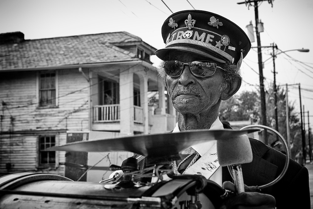 """""""Uncle"""" Lionel Batiste of the Treme Brass Band on the set of HBO's """"TREME"""" (The Pilot) on 31 March 2009 in New Orleans, Louisiana. USA."""