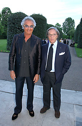 Left to right, FLAVIO BRIATORE and DIEGO DELLA VALLE at a party to celebrate the opening of Roger Vivier in London held at The Orangery, Kensington Palace, London on 10th May 2006.<br /><br />NON EXCLUSIVE - WORLD RIGHTS