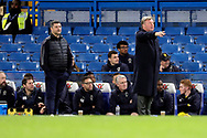 AFC Wimbledon manager Wally Downes pointing during the EFL Trophy match between U21 Chelsea and AFC Wimbledon at Stamford Bridge, London, England on 4 December 2018.