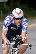 Kevin Long during the bike segment in the 2018 Hague Endurance Festival Olympic Triathlon