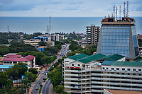 Accra - The Trust Clinic (foreground) & Zenith Bank Tower, Liberia Road