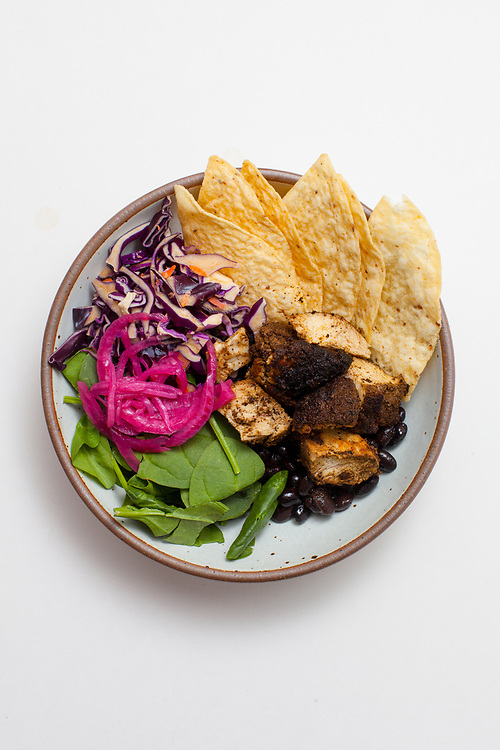 Nacho Salad Bowl w/ Ancho Chicken & Black Beans from the fridge (m€) - COVID-19 Social Distancing