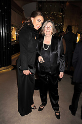 Left to right, TAMARA ECCLESTONE and ALIZA MOUSSAIEFF at a party to celebrate the launch of a collection of jewellery by Tamara Ecclestoen for jewellers Moussaieff held at their store in New Bond Street, London on 9th December 2008.
