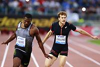 Ameer Webb USA Winner 200m Men, Chirstophe Lemaitre FRA  <br /> Roma 02-06-2016 Stadio Olimpico.<br /> IAAF Diamond League 2016<br /> Atletica Legera <br /> Golden Gala Meeting - Track and Field Athletics Meeting<br /> Foto Cesare Purini / Insidefoto