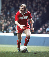 Terry Cooper (Miidlesbrough)  Manchester City v Middlesbrough 28/03/1975 Credit : Colorsport