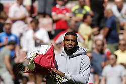 Jurgen Locadia of Brighton during the Dutch Eredivisie match between PSV Eindhoven and FC Groningen at the Phillips stadium on May 06, 2018 in Eindhoven, The Netherlands