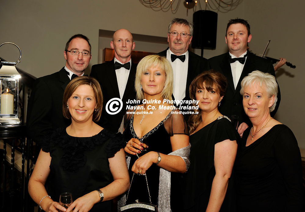 17-11-11. Meath Business and Tourism Awards 2011 at Trim Castle Hotel.<br /> TD Caldwell Group L to R.<br /> Back: Donald Flannery, Sheamus McFadden, Dermot Caldwell, Darren Caldwell.<br /> Front: Fiona Caldwell, Bernie McGowan, Rachel Hester and Frances Lee.<br /> Photo: John Quirke / www.quirke.ie<br /> ©John Quirke Photography, Unit 17, Blackcastle Shopping Centre. Co. Meath. 046-9079044 / 087-2579454.