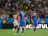 Argentina's Lionel Messi (right) shows dejection at the end of the 2014 FIFA World Cup Final match at Maracana Stadium, Rio de Janeiro<br /> Picture by Andrew Tobin/Focus Images Ltd +44 7710 761829<br /> 13/07/2014