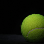 A studio shot of a Tennis Ball. 20th October 2012. Photo Tim Clayton