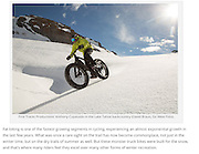 """Image: """"Fat Biking in the Sun and Snow""""<br /> Athlete:  Anthony Cupaiuolo"""