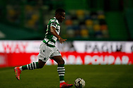 Jovane Cabral conducts the ball during the Liga NOS match between Sporting Lisbon and Belenenses SAD at Estadio Jose Alvalade, Lisbon, Portugal on 21 April 2021.