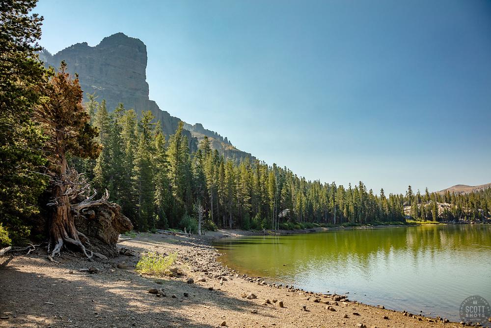 """Round Lake 1"" - Photograph of Round Lake along the Tahoe Rim Trail, south of South Lake Tahoe a bit."