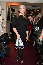 ZENOUSKA MOWATT granddaughter of Princess Alexandra at a party hosted by Lady Kinvara Balfour, Lavinia Brennan and Lady Natasha Rufus Isaacs to celebrate the Beulah French Sole Collaboration in aid of the UN Blue Heart Campaign, held at George, 87-88 Mount Street, London on 10th December 2013.