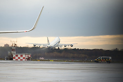 November 18, 2016 - Berlin, Germany - The Air Force One with US President Barack Obama takes off at Tegel airport in Berlin, Germany on November 18, 2016. (Credit Image: © Emmanuele Contini/NurPhoto via ZUMA Press)