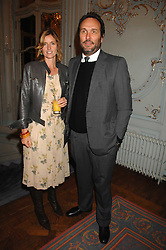 The HON.DAVID MACMILLAN and his wife ARABELLA , she was designer Arabella Pollen at a party to celebrate the publication of 101 World Heroes by Simon Sebag-Montefiore at The Savile Club, 69 Brook Street, London W1 on 9th October 2007.<br /><br />NON EXCLUSIVE - WORLD RIGHTS