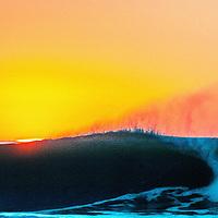 Waves wash ashore near Pescadero, California.