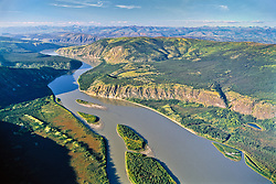 Yukon River through the Klondike region, Yukon