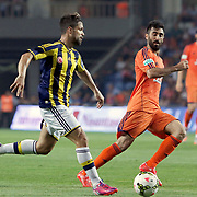 Fenerbahce's Diego Ribas (L) during their Turkish Super League soccer match Istanbul Basaksehir between Fenerbahce at the Basaksehir Fatih Terim Arena at Basaksehir in Istanbul Turkey on Monday, 25 May 2015. Photo by Aykut AKICI/TURKPIX
