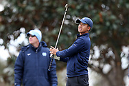 WILMINGTON, NC - MARCH 19: North Carolina's Henry Do tees off on the Marsh Course second hole. The first round of the 2017 Seahawk Intercollegiate Men's Golf Tournament was held on March 19, 2017, at the Country Club of Landover Nicklaus Course in Wilmington, NC.
