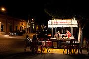 Outdoor hamburger stand, El Fuerte, Sinaloa, Mexico