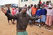 Children at Kibera School dance and tell stories during break time. There are only 2 schools within Kibera slum, Nairobi, the biggest slum dwelling in Africa.