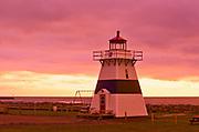 Big Tignish Lighthouse at sunrise<br />Tignnish Shore<br />Prince Edward Island<br />Canada