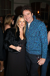 Handbag designer ANYA HINDMARSH and her husband JAMES SEYMOUR at a party to celebrate the publication of Style by interior designer Kelly Hoppen held at 50 Cheyne Walk, London on 10th November 2004.<br /><br />NON EXCLUSIVE - WORLD RIGHTS