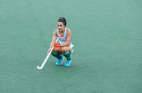 AMSTELVEEN - teleurstelling bij Anna O'Flanagan (Ier) na  de wedstrijd dames , Ierland-Engeland (1-5) bij het  EK hockey , Eurohockey 2021.COPYRIGHT KOEN SUYK